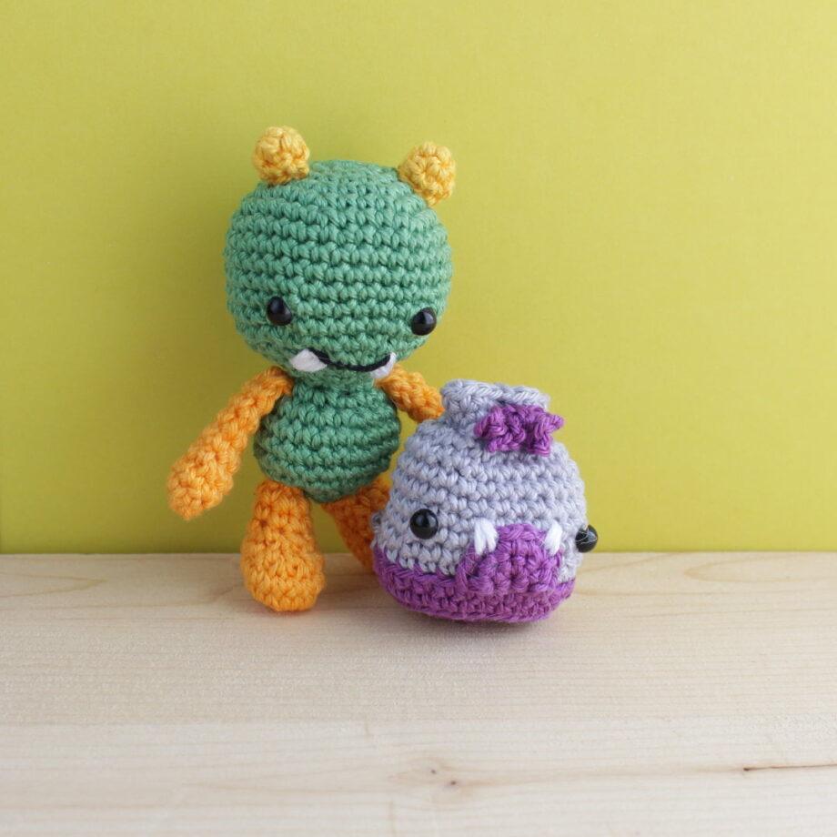 crochet amigurumi monster backpack