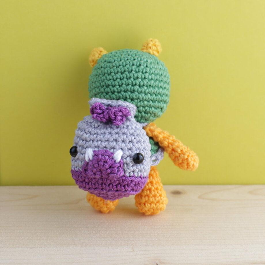 crochet amigurumi backpack monster