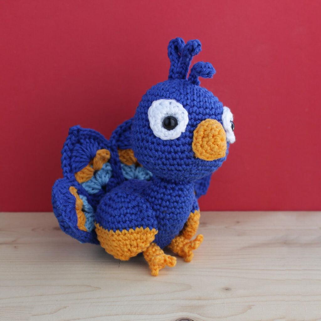 crochet amigurumi peacock